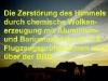 Künstliche Wolken über Oldenburg
